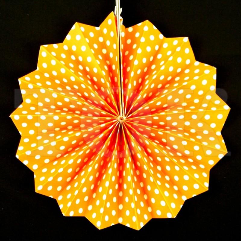 Веер № 0924-89   20 см. оранжевый