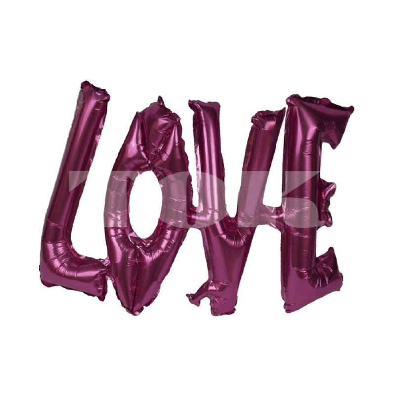 "Надпись ""Love"" розовое Фигура Фольга"
