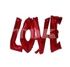 "Надпись ""Love"" розовая Фигура Фольга"