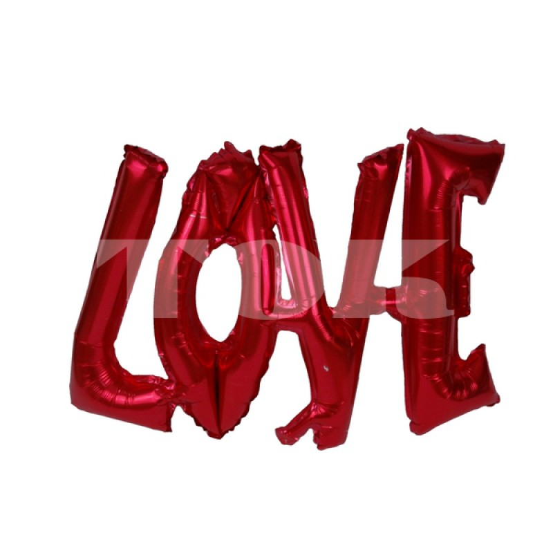 """Надпись """"Love"""" красное Фигура Фольга"""