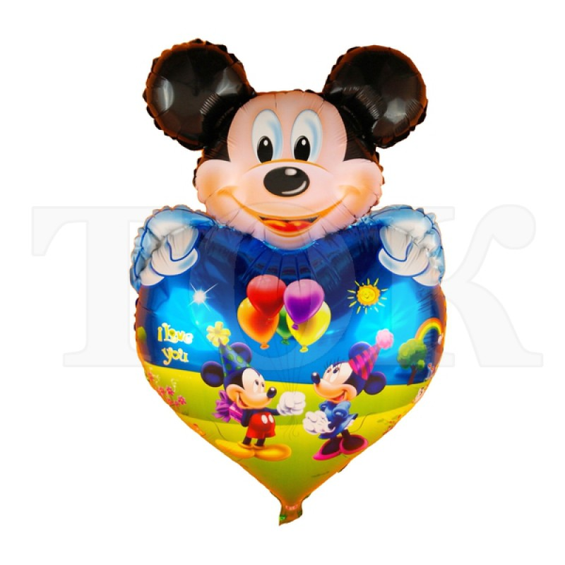 """""""Микки Маус"""" мальчик на сердце 0934-55 Фигура Фольга"""