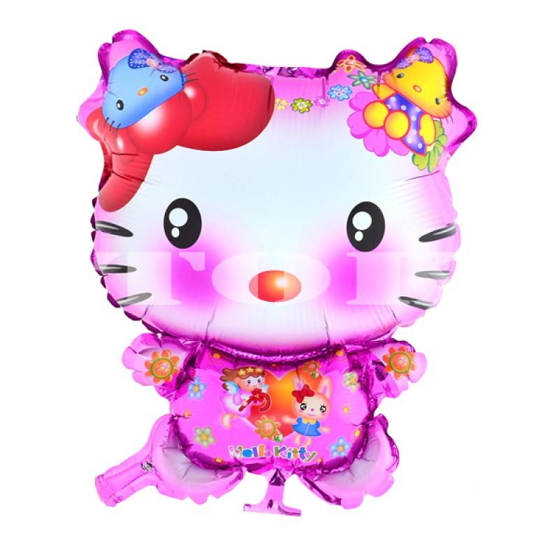 """Hello Kitty""  розовая Фигура Фольга"