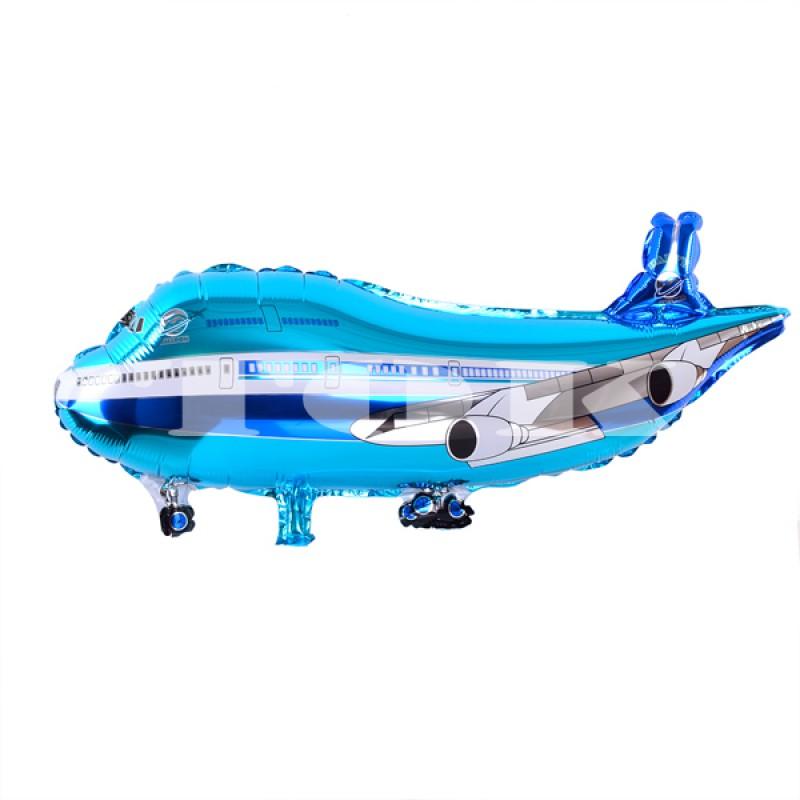 """""""Самолет Boeing 747"""" синий   Фигура Фольга"""