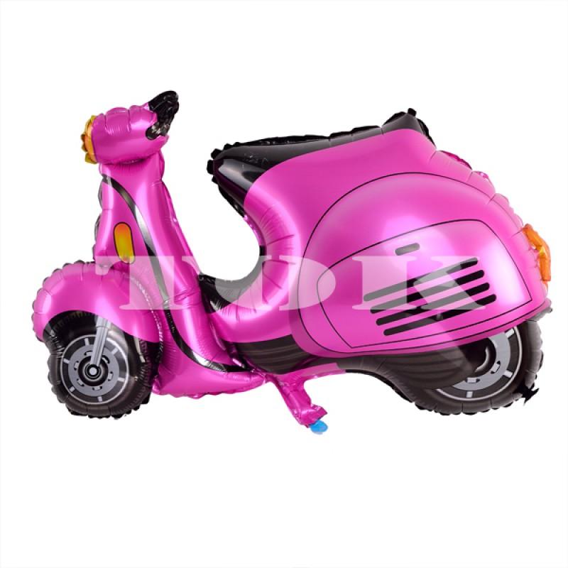 """""""Скутер"""" розовый Фигура Фольга"""