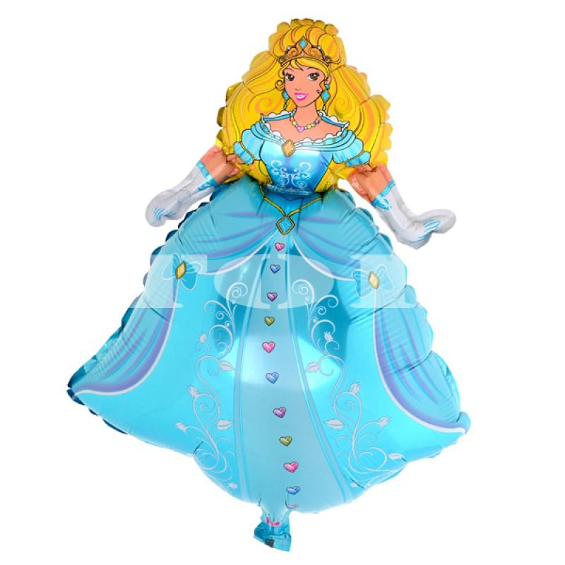 """""""Принцесса"""" в голубом платье Фигура Фольга"""