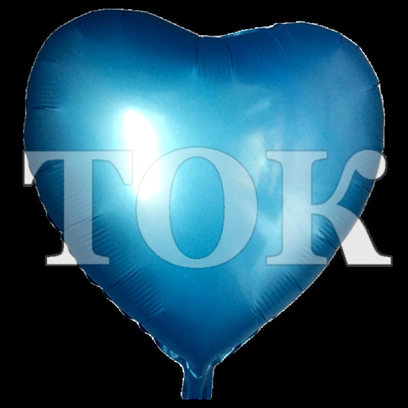 Сердце перламутр 2 голубой