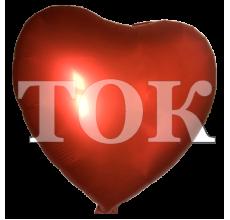 Сердце перламутр 1 красный