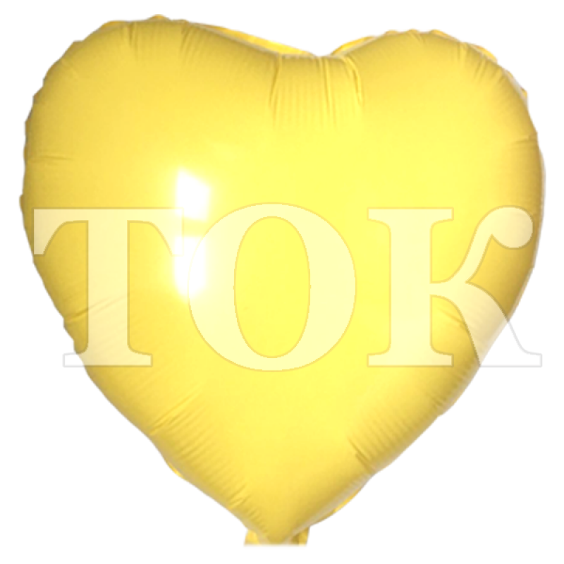 Сердце пленка желтый