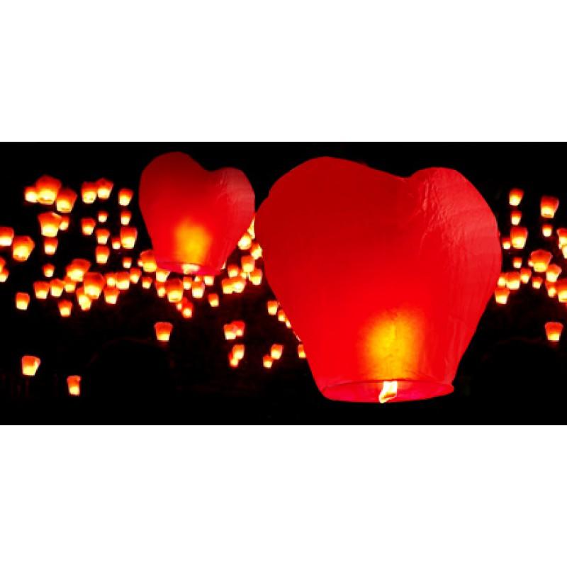 Небесные фонарики Сердце