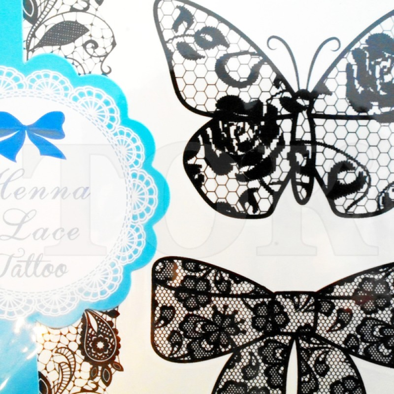 """Татуировки """"Белые кружева"""" №901-3"""